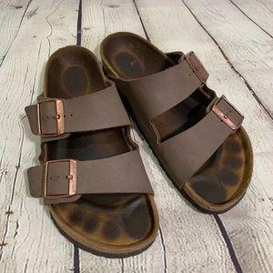 Birkenstock Tan Leather Sandals Size 38 Regular